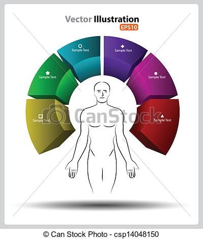 Clipart Vector of Human mindfulness 3d.