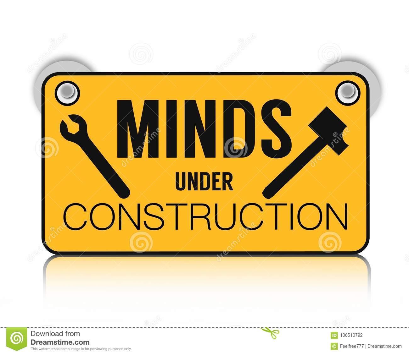 Minds under construction stock illustration. Illustration of.