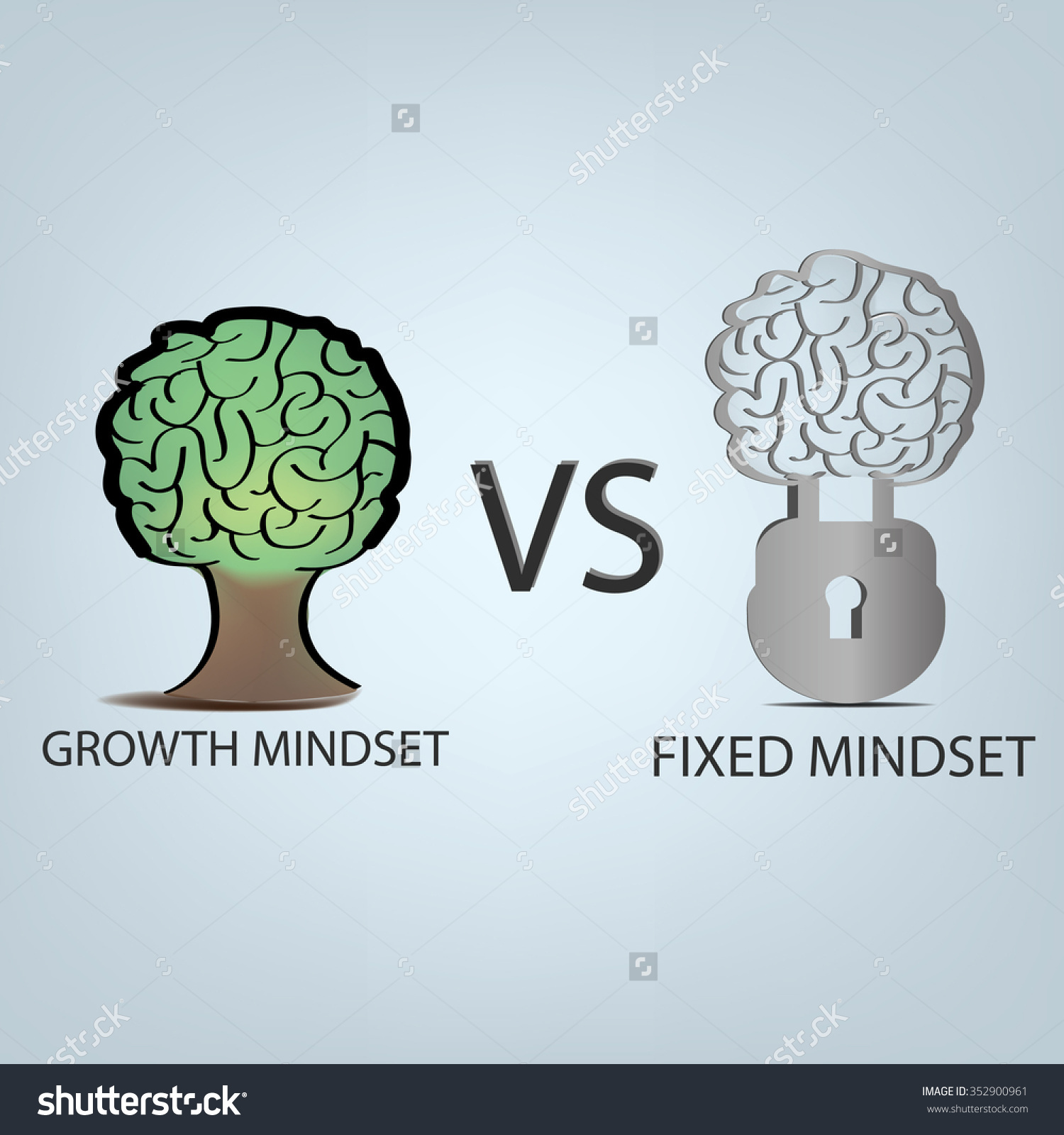 Growth mindset clipart.