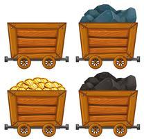 Mine Cart Free Vector Art.