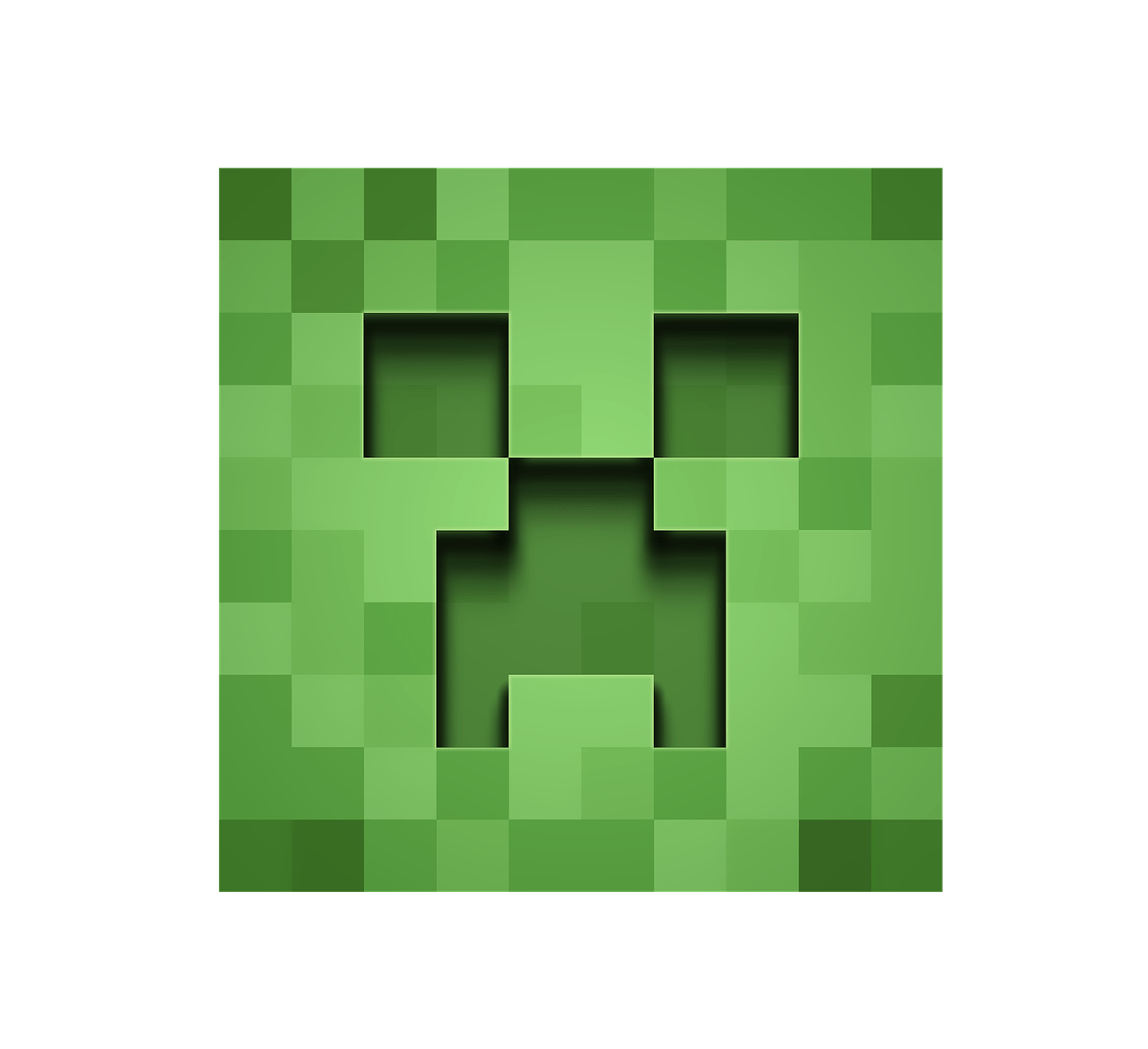 Minecraft Creeper Front View transparent PNG.