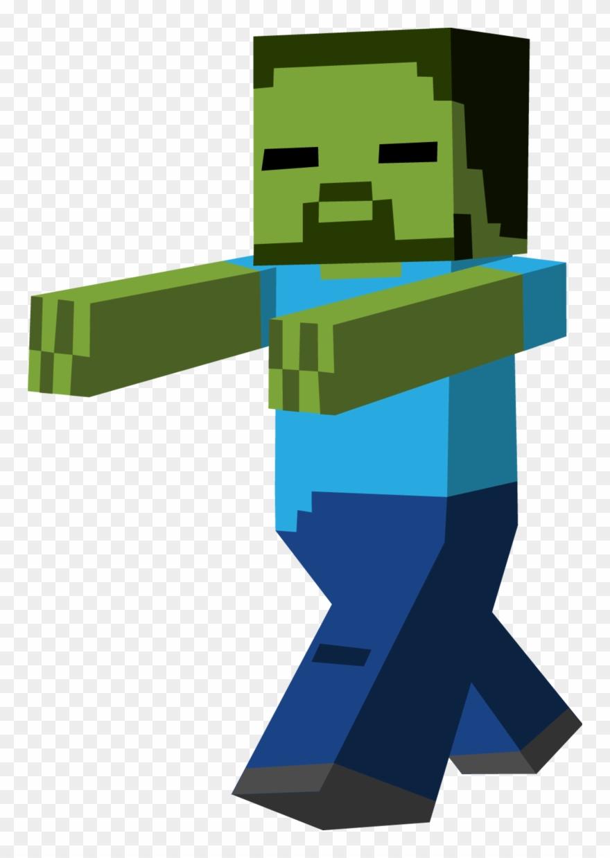 Minecraft Clipart Zombie Running.