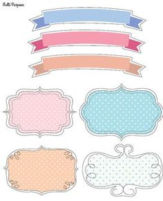 Free Valentine's Day Label Frame Clip Art Set in Vector .EPS and.