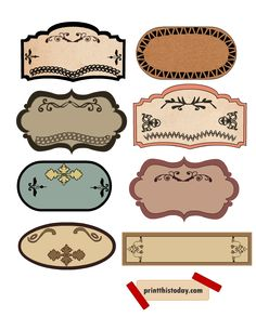 CLIP ART: Vintage Labels Pack // Digital Frames // DIY Cards.