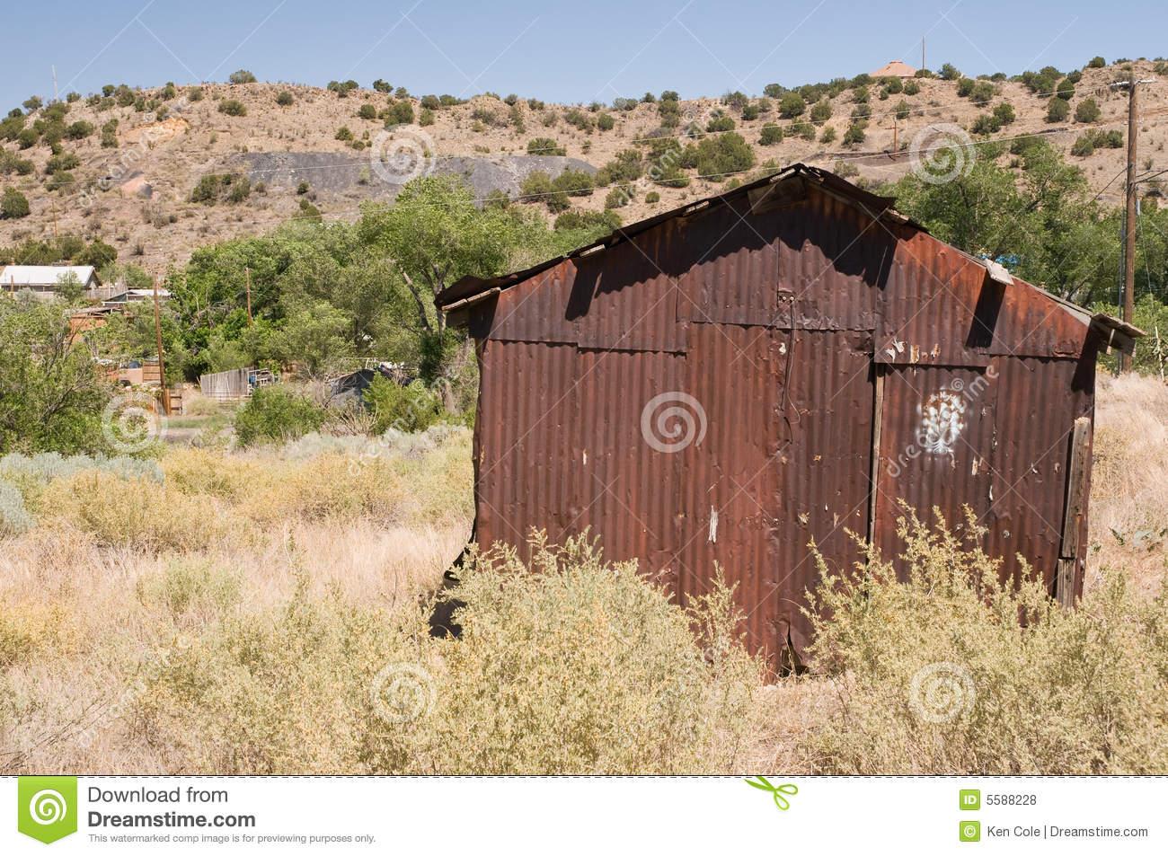Rusty Desert Mining Shack Royalty Free Stock Photos.