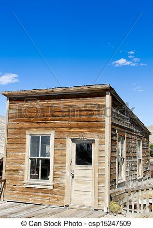 Stock Photography of Vintage mining town shack #3.