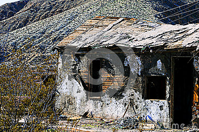 Rusty Desert Mining Shack Royalty Free Stock Photos.