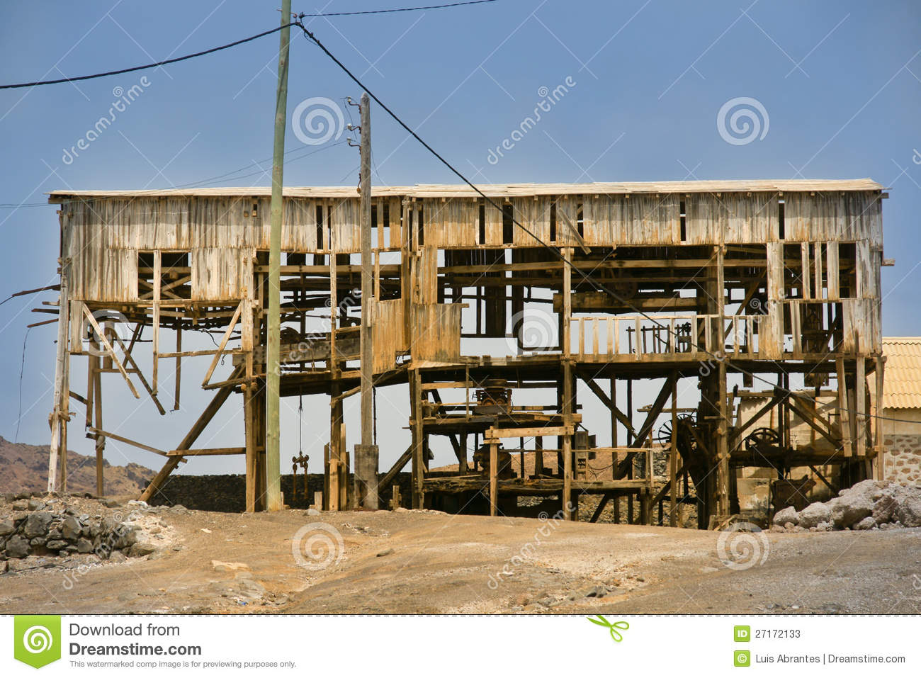 Old West Mining Shack Royalty Free Stock Photography.