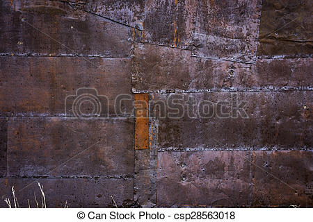 Stock Photography of Old Gold mining shack tin siding.
