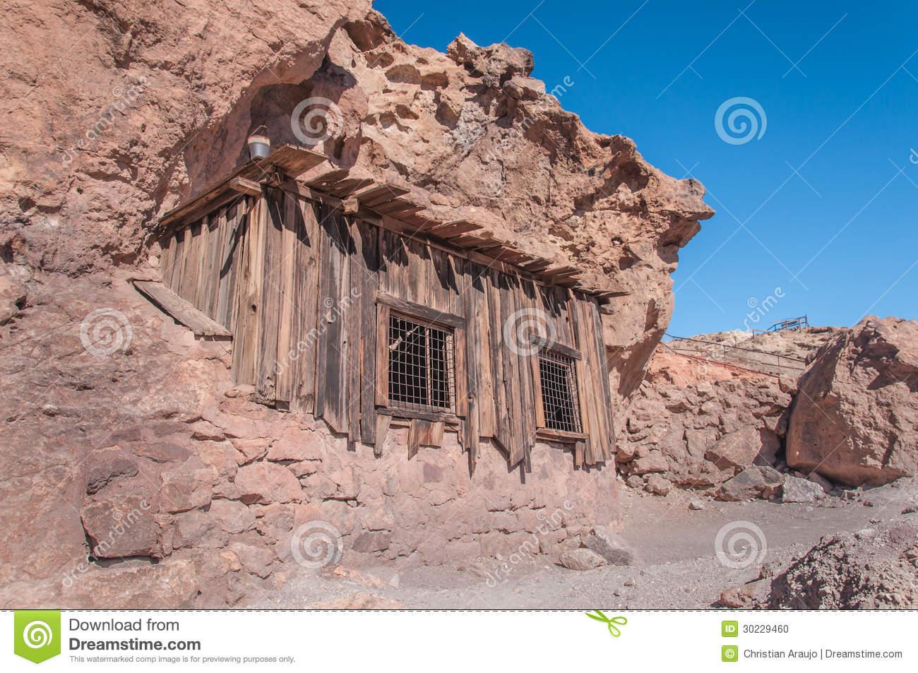 Old West Mining Shack Stock Photo.