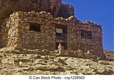 Stock Photos of Stone Mining Shack.