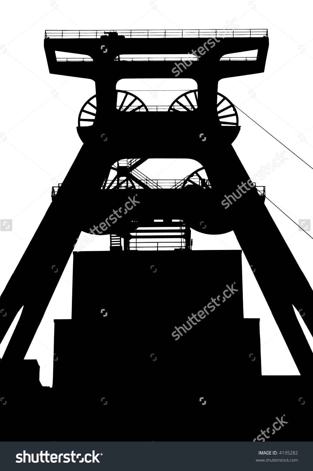Shaft Tower Stock Vector 4195282.