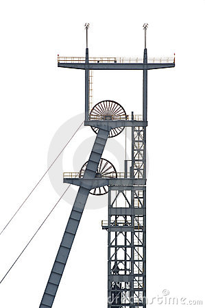 Coal Mine Shaft Royalty Free Stock Photography.