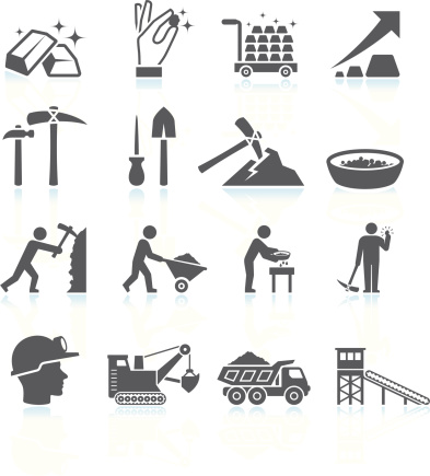 Clipart mine shaft icon.