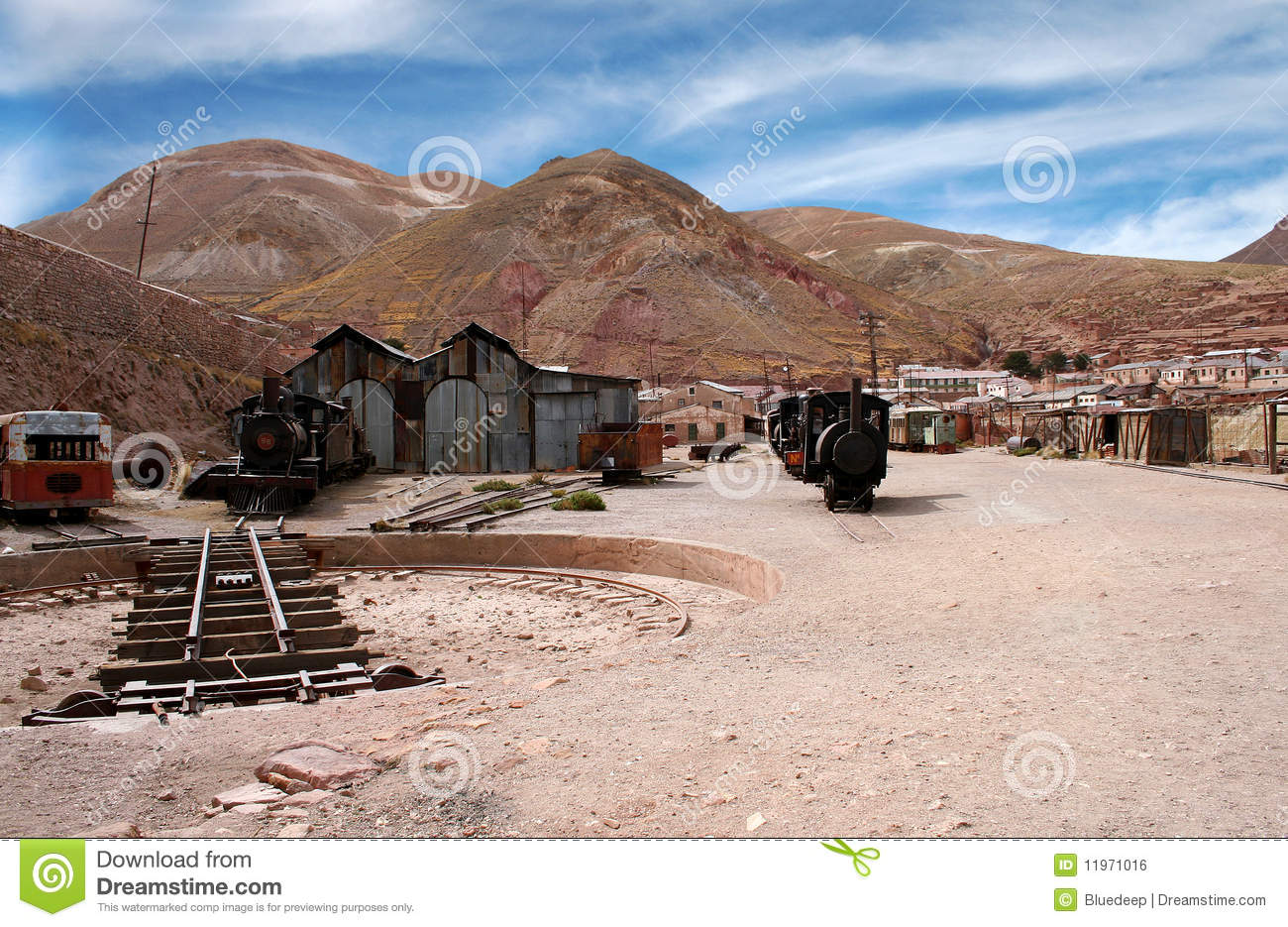 Abandoned Silver Mine, Bolivia Royalty Free Stock Image.