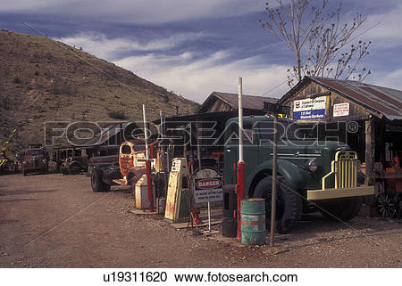 Stock Photography of Jerome, AZ, Arizona, Gold King Mine & Ghost.