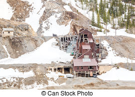 Picture of Abandoned Mine Shaft in Western Gold Rush Town.