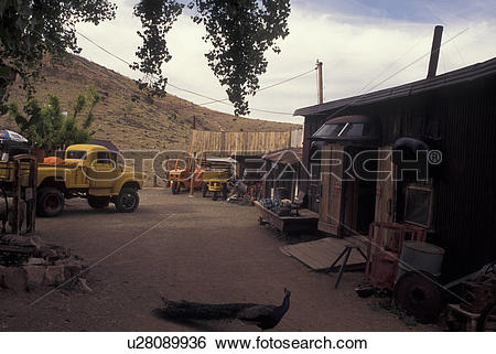Stock Images of Jerome, AZ, Arizona, Gold King Mine & Ghost Town.