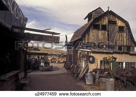 Stock Photograph of Jerome, AZ, Arizona, Gold King Mine & Ghost.