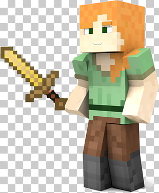 10 minecraft Alex PNG cliparts for free download.