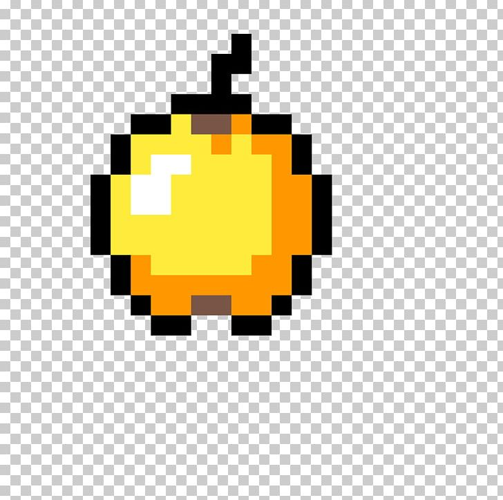 Minecraft Golden Apple Pixel Art Item Video Games PNG.