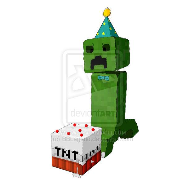 Minecraft Birthday Clipart.