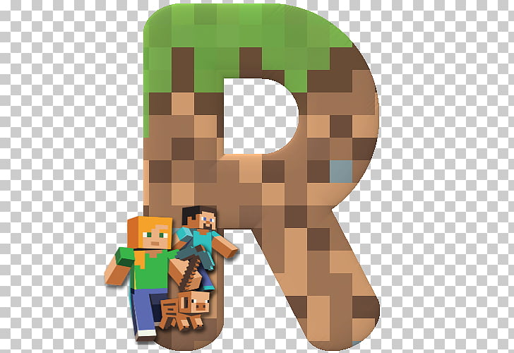 Minecraft Letter Alphabet Video game Birthday, block letters.