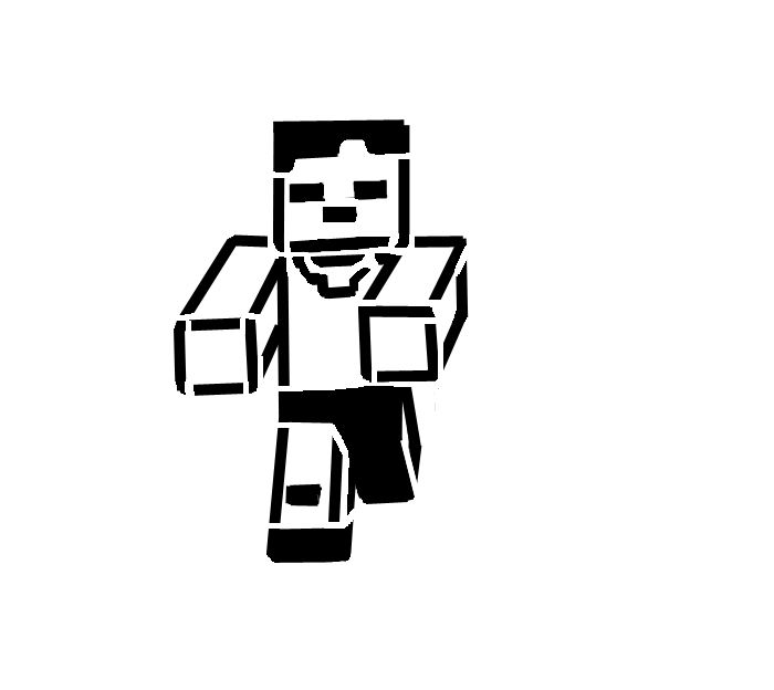 Free Black And White Minecraft Pictures, Download Free Clip.