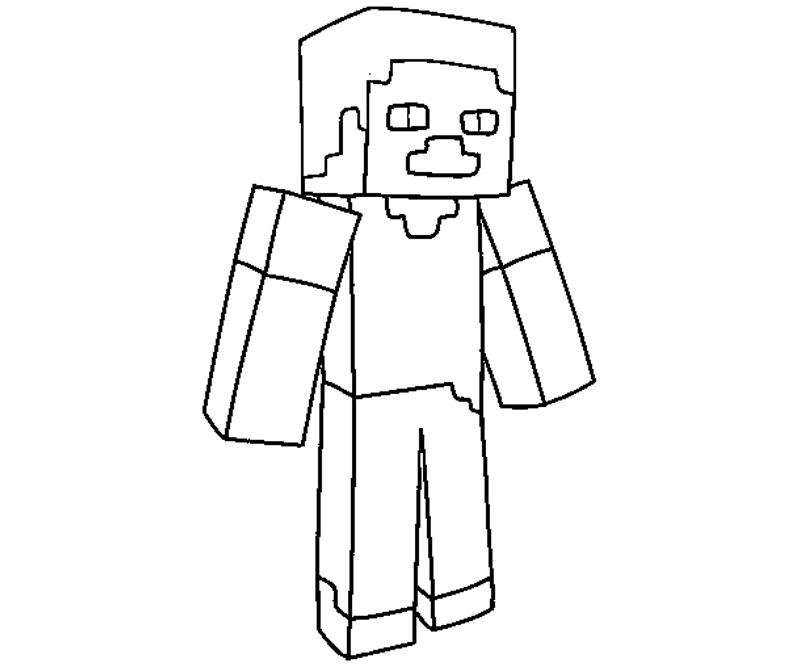 Minecraft Clipart Black And White.