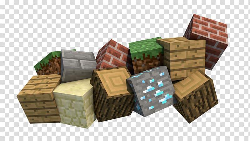 Multicolored Minecraft blocks illustration, Minecraft.