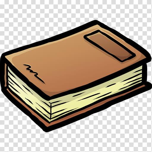 MineCraft Icon , Book, brown book illustration transparent.
