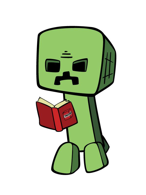 Ender man reading a book!.