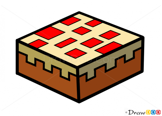 Minecraft Cake Clipart.