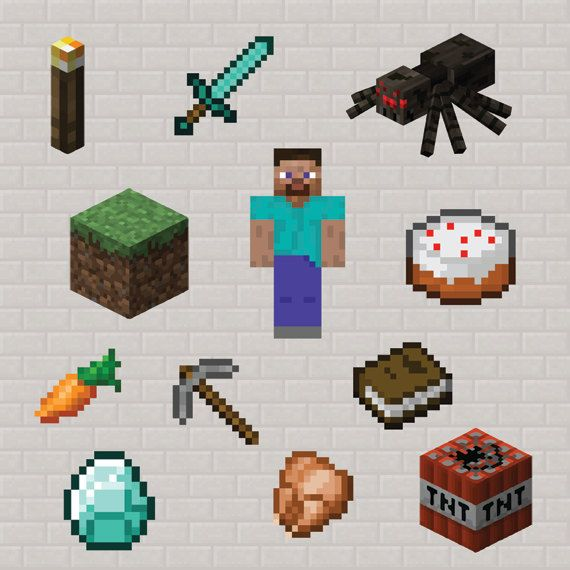 Minecraft Characters Clipart.