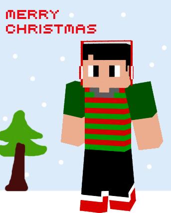 Minecraft Christmas Clipart.