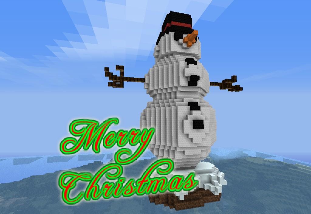 Christmas Minecraft Clipart.