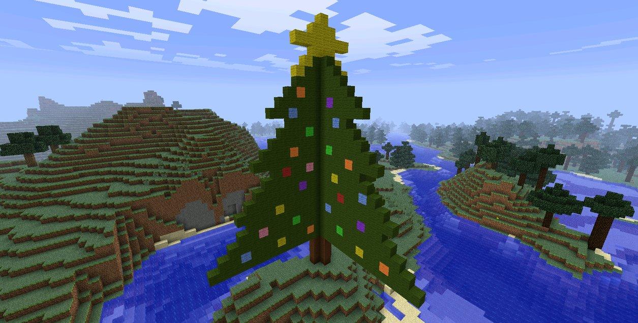 Christmas Tree Minecraft 1 of 2 by BakaHentai90 on DeviantArt.