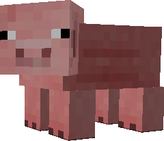Minecraft Clipart Pig.