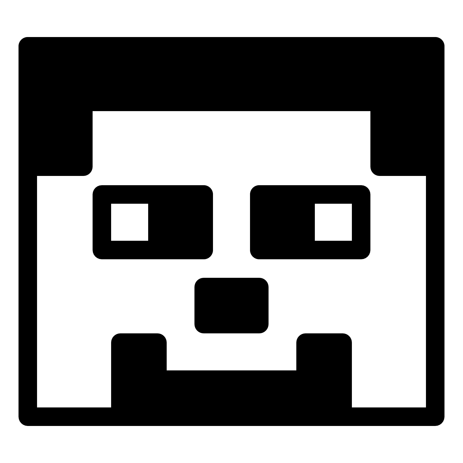 Minecraft clipart black and white, Minecraft black and white.