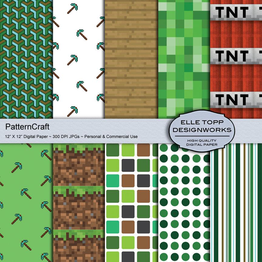 Printable Minecraft Clipart.