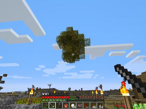 Minecraft blue sword clipart.