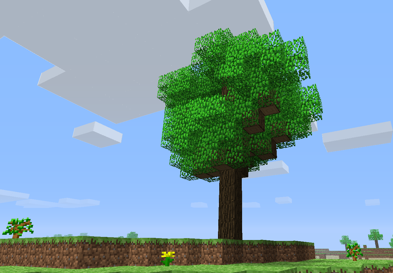 Minecraft Clipart Tree.