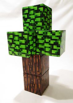 NEW Minecraft Inspired Diamond ore plush toy by CraftingNerdy.