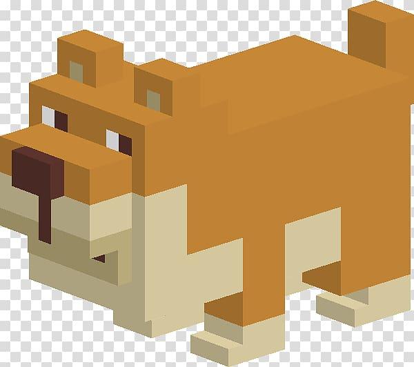 Minecraft dog illustration, Crossy Road Brown Dog.