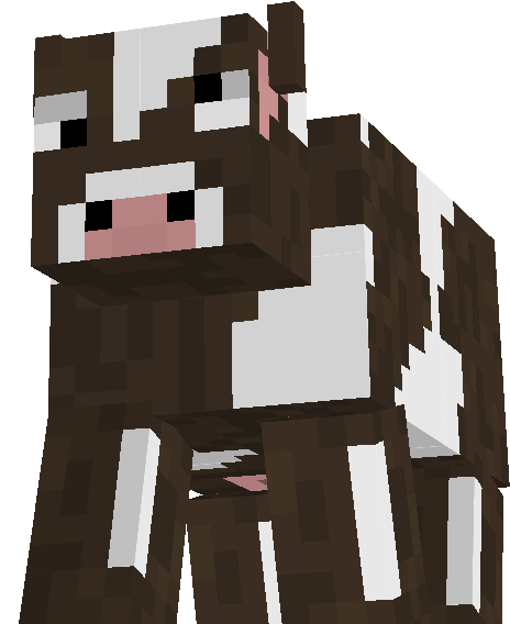 Minecraft Cow PNG.