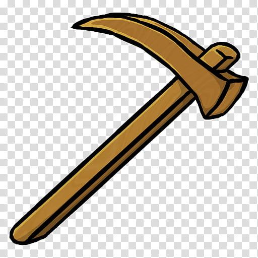 MineCraft Icon , Wooden Hoe, mattock illustration.