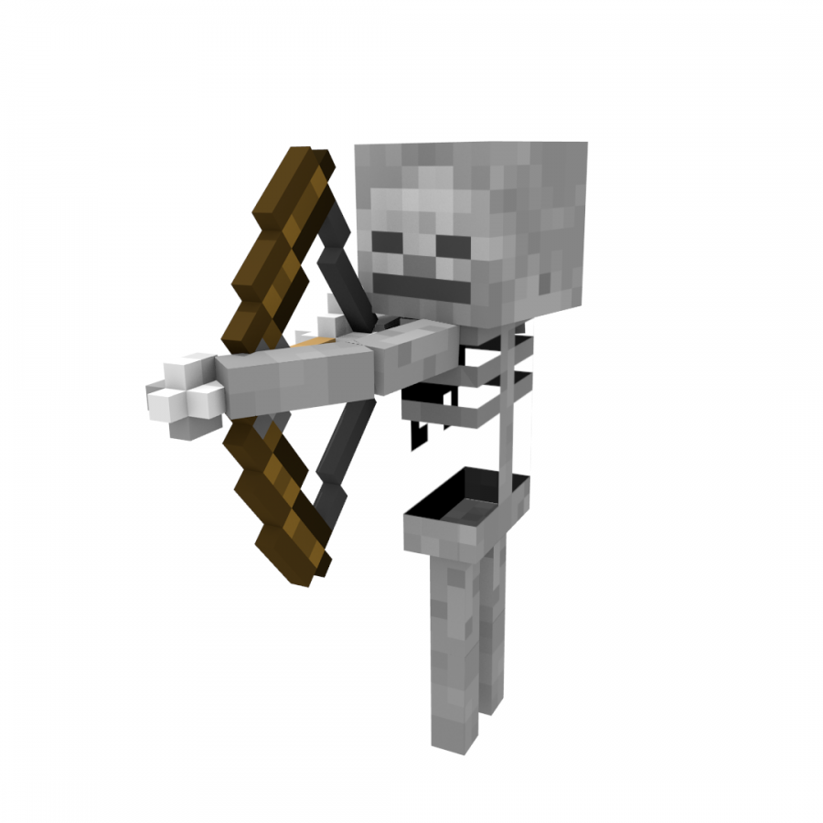 Minecraft Magic: The Gathering Skeleton Mob Clip art.