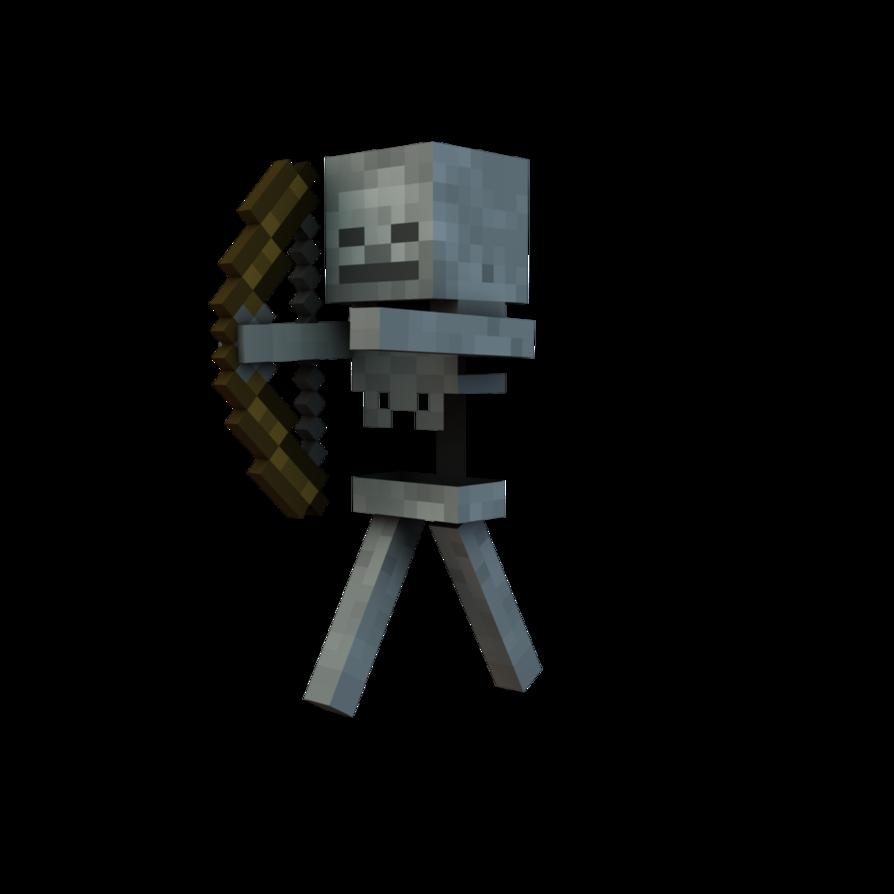Download Minecraft Skeleton PNG.