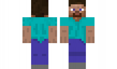 minecraft skin Steve.