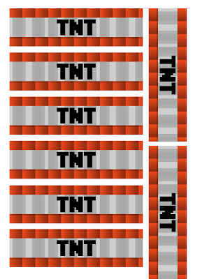 Free Minecraft Printable TNT Labels.